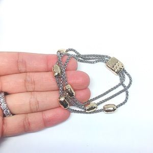 Jewelry - Rhodium Gold Plated Gold Balls Chains Bracelet